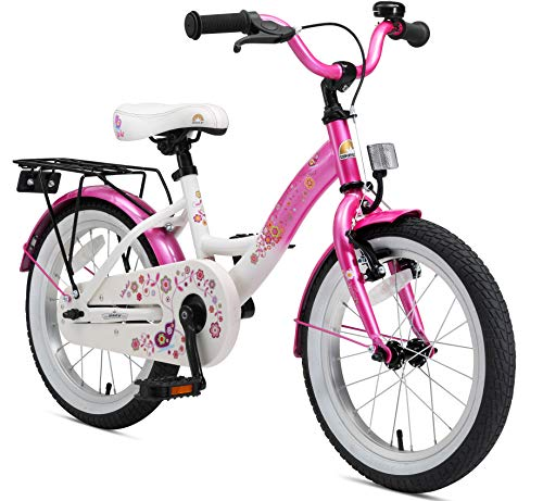 Cycling Hub Cartridge - BIKESTAR Original Premium Safety Sport Kids Bike Bicycle with sidestand and Accessories for Age 4 Year Old Children | 16 Inch Classic Edition for Girls/Boys | Flamingo Pink
