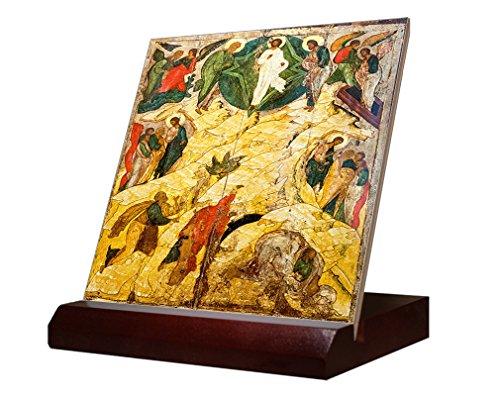 Russian Orthodox Icon Transfiguration Ceramic Tile   Stand 4 X4