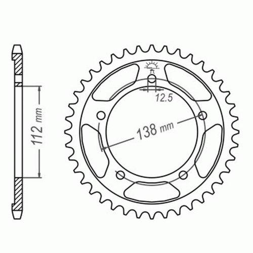 Kettensatz f/ür Honda CBF 1000 SC58 2006-2012 DID X-Ring super verst/ärkt