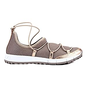 Jimmy Choo Women's Andreafmmtea Brown Fabric Sneakers