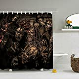huangyan Shower Curtain Mushroomhead with Hooks for Bathroom