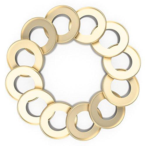 Discagenda Aluminum Disc-Binding Discs 42mm 1.65in 12 Piece Set - Gold Bindings