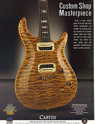 Magazine Print ad: 2004 Carvin Guitar, CT6M California Carved Top