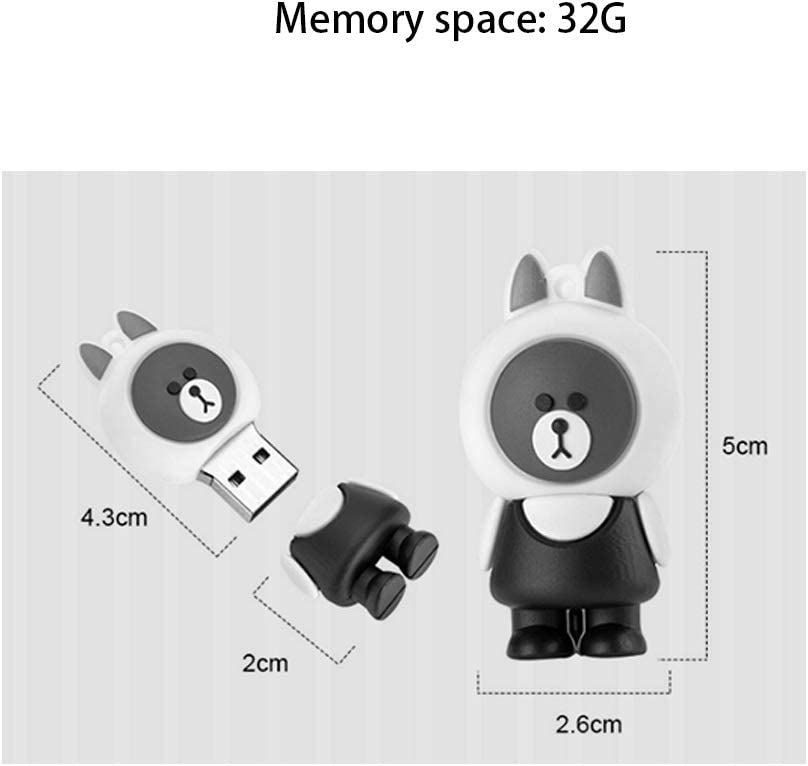 White 32G//64G//128G Portable Lanyard Flash drive Computers Accessories Mini Cute USB Stick USB 2.0 Green Silicone Up to 25MB Capacity : 32G, Color : B S
