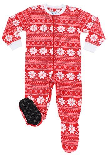 Jual SleepytimePjs Family Matching Red Snowflake Onesie PJs Footed ... d65ba9150