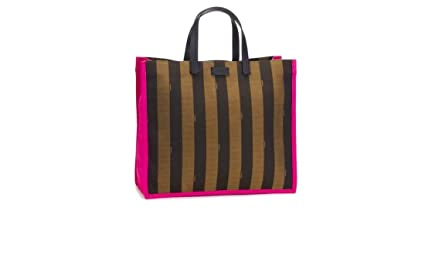 358858ce75 Amazon.com   Fendi Pequin Shopping Tote in Pink   Sports   Outdoors