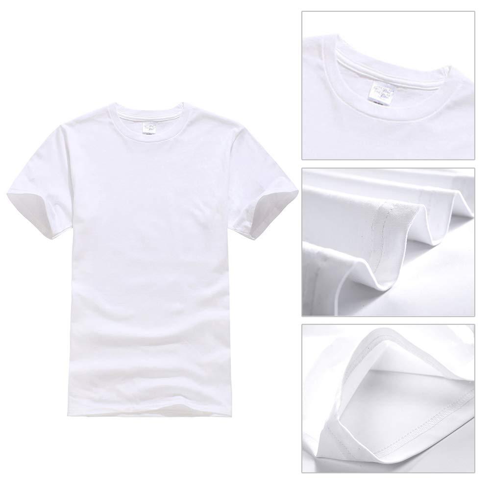885200237 UOhost 10PCS White T-Shirts Blank Sublimation T-Shirts Short Sleeve  Christmas DIY Crewneck Washed T-Shirts for Women Men | Amazon.com