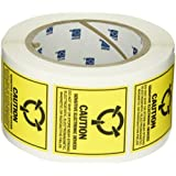 Brady SL-3 Removable Paper Static Awareness Labels , Black On Yellow,  2.000