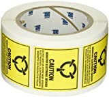 Brady SL-3 Removable Paper Static Awareness Labels , Black On Yellow,  2.000'' x 2.000'' (50.800 Mm x 50.800 Mm),  Legend ''Caution Sensitive Electronic Devices.. (MIL Std. 129J Symbol)''  (500 Labels per Roll, 1 Roll per Package)