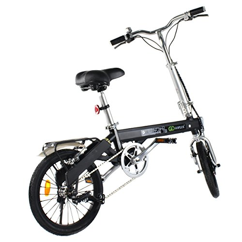Goplus 180W Lightweight Folding Electric Bicycle Sport Bike Lithium Battery W/ Two Speed Electronic Transmission System