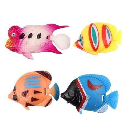 eDealMax plástico 4-en-1 Peces de Colores de la cola del acuario Artificial