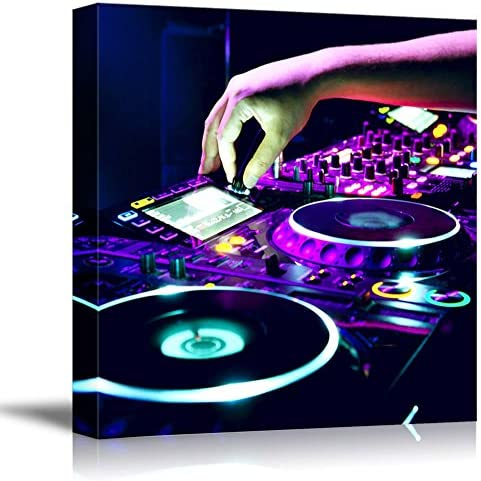 Dj Mixes The Track in The Nightclub Wall Decor