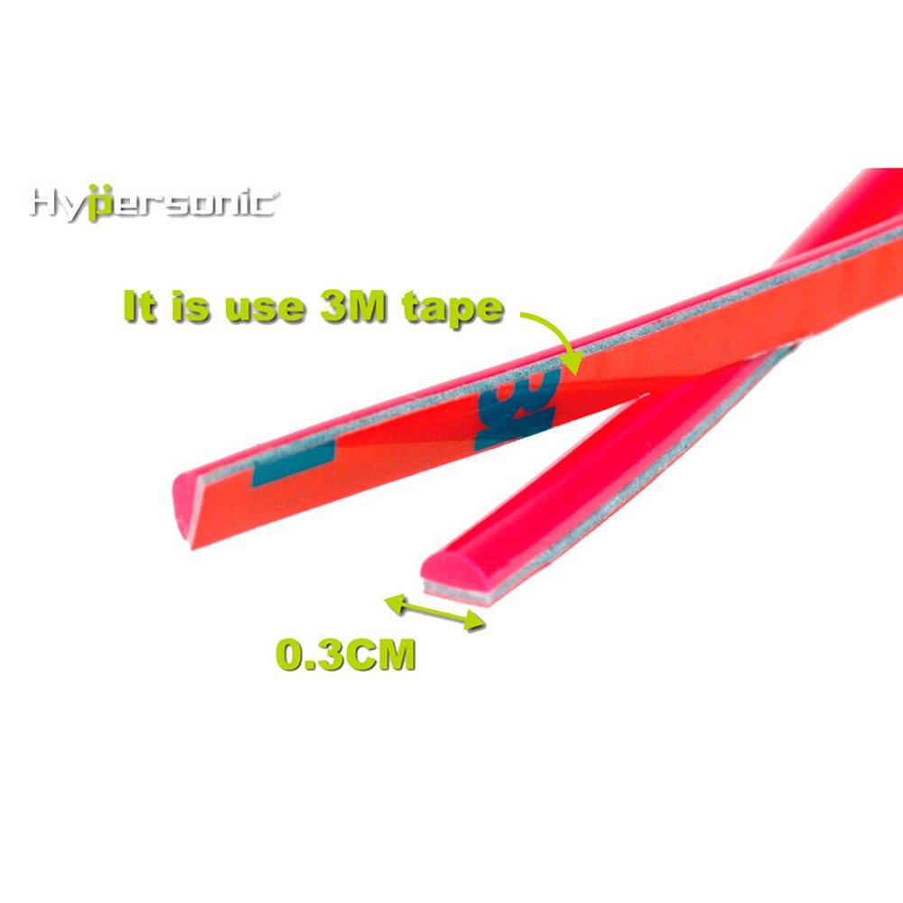 Rosso Hypersonic HP6188/Classico Flessibile con Nastro Adesivo per Strisce 0.3/cm x 500/cm