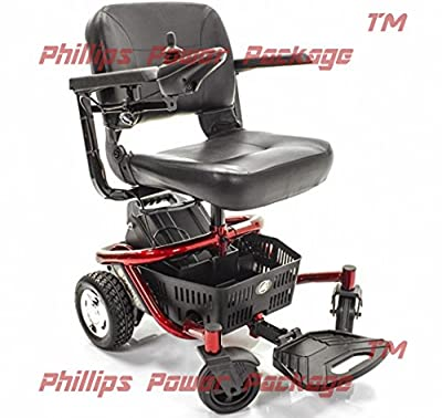 Golden Technologies - LiteRider Envy - Compact Power Chair - Red - PHILLIPS POWER PACKAGE TM - TO $500 VALUE