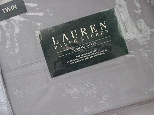 Lauren Ralph Lauren Dunham Dove Gray 3pc Sheet Set Twin