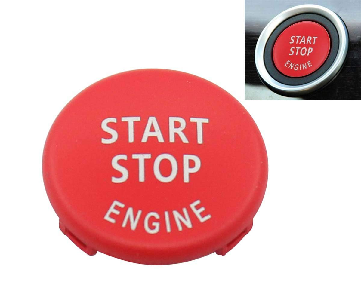 Red Start Stop Engine Button Switch Cover for BMW X5 E70 X6 E71 3 E90 E91 E92 E93 E87 E83 E89 320 520 525 328i(2007-2011) 335i 330i MOTOKU