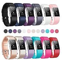 Bandas Humenn compatibles con Fitbit Charge 2, pulsera de repuesto clásica para Fitbit Charge 2 HR, paquete de 12 pequeños
