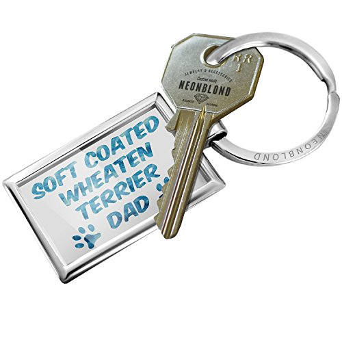 Keychain Dog & Cat Dad Soft Coated Wheaten Terrier - - Soft Wheaten Jewelry Coated