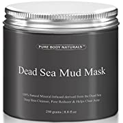 Amazon Lightning Deal 73% claimed: Pure Body Naturals Beauty Dead Sea Mud Mask for Facial Treatment, 250g / 8.8 fl.oz