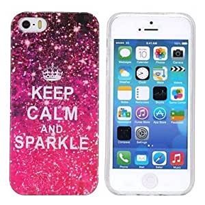 iPhone 5S Case, WKell Keep Calm Pattern TPU Case for iPhone 5/5S