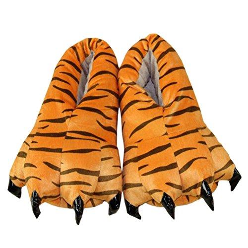 Griffes Femmes Shoes Souple Hommes Hiver Slipper YUWELL Chaussure Peluche Animal Tigre1 Et en Peluche Pantoufles anwOYS