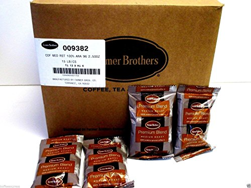 Farmer Brothers Coffee - Ground Medium Roast 100% Arabica 2.5 Oz Portion Packs (Bulk 96 Pack - $1.04 cost per pack) by Farmer Brothers (Image #4)