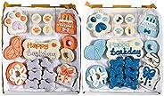Wüfers Dog Birthday Boy Birthday Girl Dog Cookie Box Party Bundle | Handmade Hand-Decorated Dog Treats | Dog G