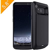 Galaxy S8 Battery Case,Ruky Portable Galaxy S8 Battery Case, 5000 mAh Extended Charging Backup Battery Case Rechargeable Power Charging Case Juice Bank for Galaxy S8 - (Black)