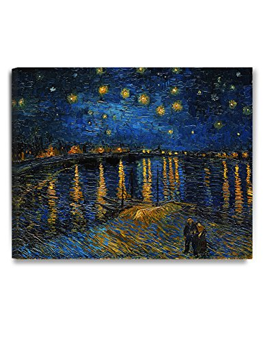 DECORARTS - Starry Night Over The Rhone, Vincent Van Gogh Art Reproduction. Giclee Canvas Prints Wall Art for Home Decor (Night Canvas Print)