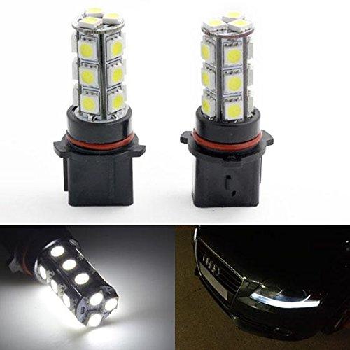Partsam 2x Front Turn Signal lights Bulbs White 18 SMD P13W 12277 LED Fog Driving Light Ultra White Daytime Running Light DRL Bulbs
