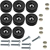 Set of 8 Air Compressor, Power Generator Rubber Feet/Foot Mount + Mounting Screws + Nuts 1 1/2'' Diameter X 5/8'' Height