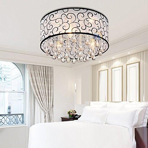 DINGGU™ 4 Lights Flush Mounted Modern Drum Ceiling Light Chandelier Lamp Fixtures Rain Drop Decoration by DINGGU (Image #2)