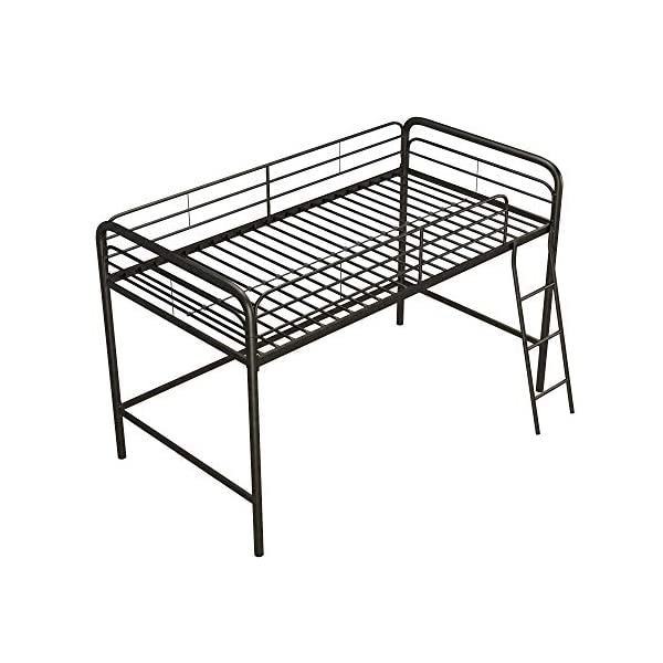 DHP Junior Loft Bed Frame with Ladder, Multifunctional Space-Saving Design 6