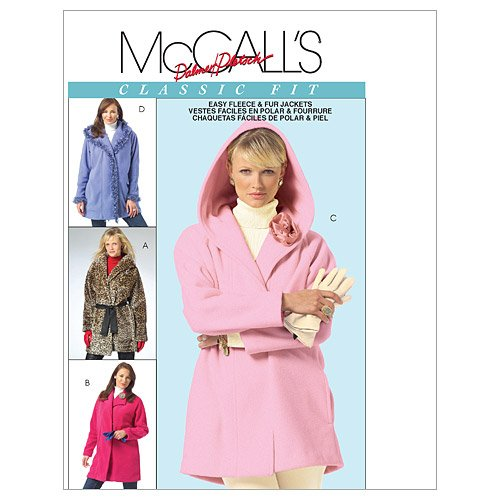 McCall's Patterns M4975 Misses' Lined and Unlined Jackets and Flower, Size XZ - Pieces Fur Beaver