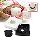 Product review for Sandwich Bread Cutter, GOLDSTAR Cute Little Panda Shape Sandwich Bread Cake Maker DIY Mould Pocket Cutter [Safe PP Material], Toast Mold Tool, Cookie Stamp Kit (A)