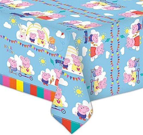 Peppa Pig Plastic Tablecover - 138cm x (Peppa Pig Table Cloth)