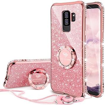OCYCLONE Coque Galaxy S9 Plus, Glitter Galaxy S9 Plus Coques pour ...