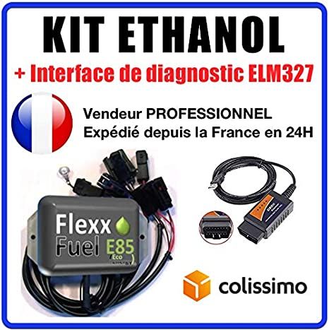 Peugeut Kit Ethanol E85 8-cylindres pour: Renault Audi. Citroen Ford BMW Connecteurs: Delphi