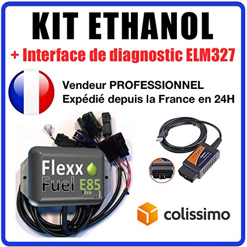 Interface de Diagnostic ELM327 USB Citro/ën /… Renault 4 cylindres Connecteurs Honda E85 Audi KIT Ethanol Flex Fuel BMW Bioethanol Compatible avec Peugeot VW