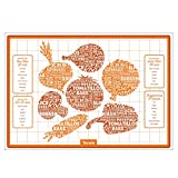 Tovolo Silicone Veggie Roasting Mat, Non-Stick, Printed with Roasting Times & Seasonings, Dishwasher Safe
