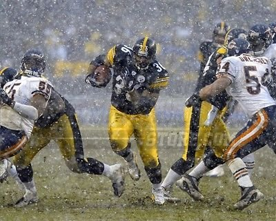 Jerome Bettis Pittsburgh Steelers running back snow 8x10 11x14 16x20 photo 437 - Size 16x20