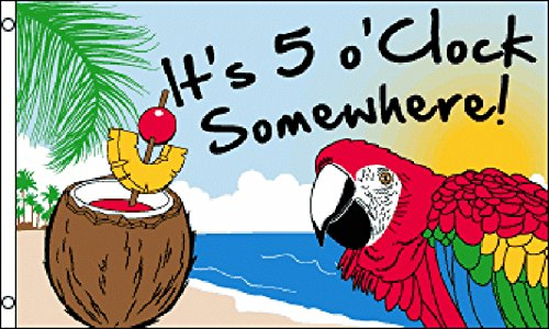 OClock Somewhere Party Parrot FLAG product image