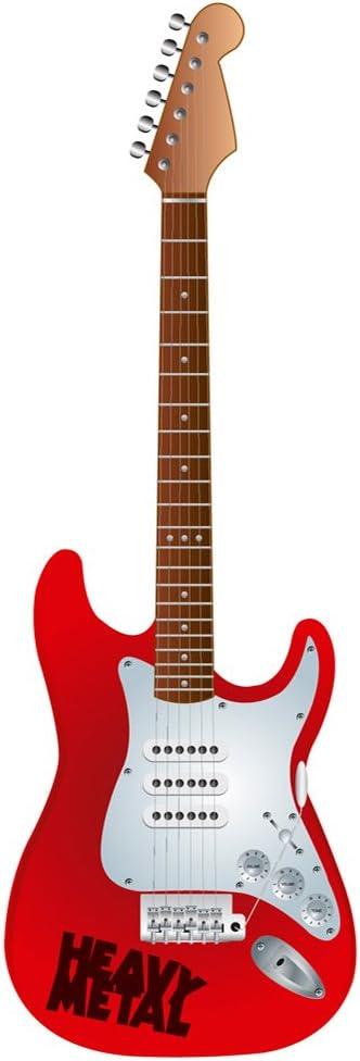 Guitarra personalizada de rock | ¡ELIGE TU COLOR, LOGO O FIRMA! | Decoración de eventos (90x30cm) | Material Cartón Pluma 10mm (Incluye base para su colocación) (90x30cm): Amazon.es: Hogar