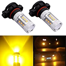 DunGu 5202 PS24W H16 LED Fog Lights Bulbs Daytime Running Light Replacement Golden Yellow Pack of 2