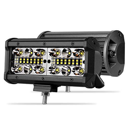 7 inch LED Pods, SWATOW 4x4 2pcs 240W Spot Flood Combo Quad Row LED Light Bar Led Work Light Off Road Driving Fog Lights for Truck Jeep Boat ATV UTV Motorcycle, 2 Yrs Warranty