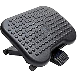 HUANUO Adjustable Under Desk Footrest – Ergonomic Foot Rest with 3 Height Position – 30 Degree Tilt Angle Adjustment for…