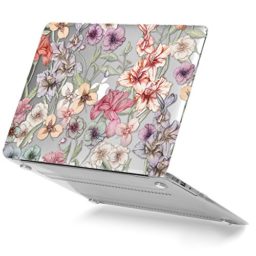 Pretty Floral Pattern (GMYLE Soft-Touch Crystal Plastic Hard Case Print for Macbook Air 13 inch (Model: A1369 & A1466) - Floral Garden Pattern)