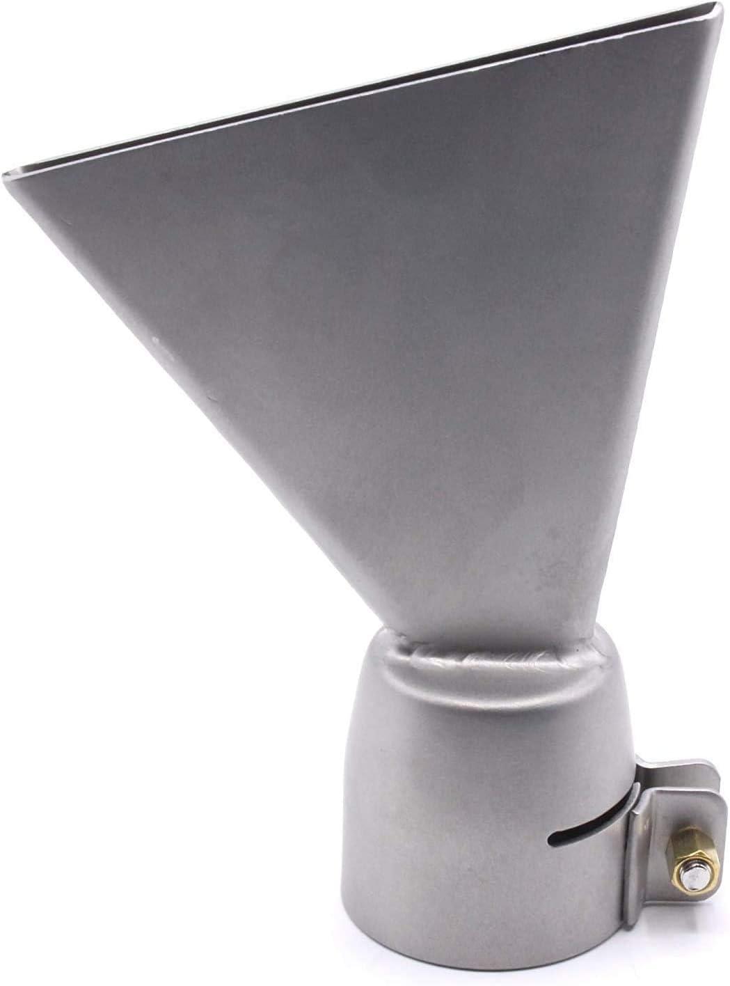 ST HOBBYPOWER24 Buse professionnelle en acier inoxydable pour souffleur /à air chaud Fer /à air chaud Forsthoff Pierre Sivert Leister Triac S AT Angle buse ronde buse plate large buse de toit 60 mm