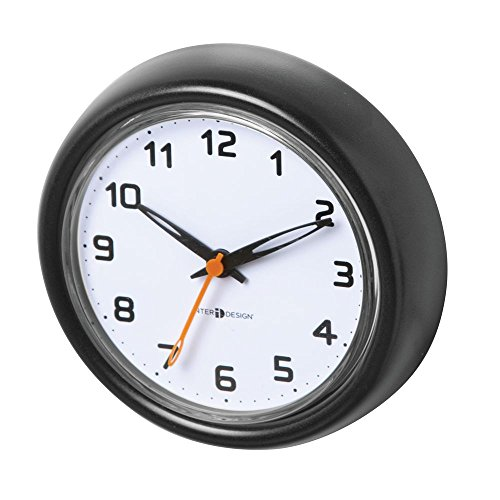 InterDesign Forma Suction Wall Clock for Bathroom or Shower, - Cabinet Mills Akro Clear