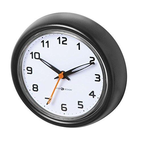 InterDesign Forma Suction Clock for Bathroom or Shower - Black